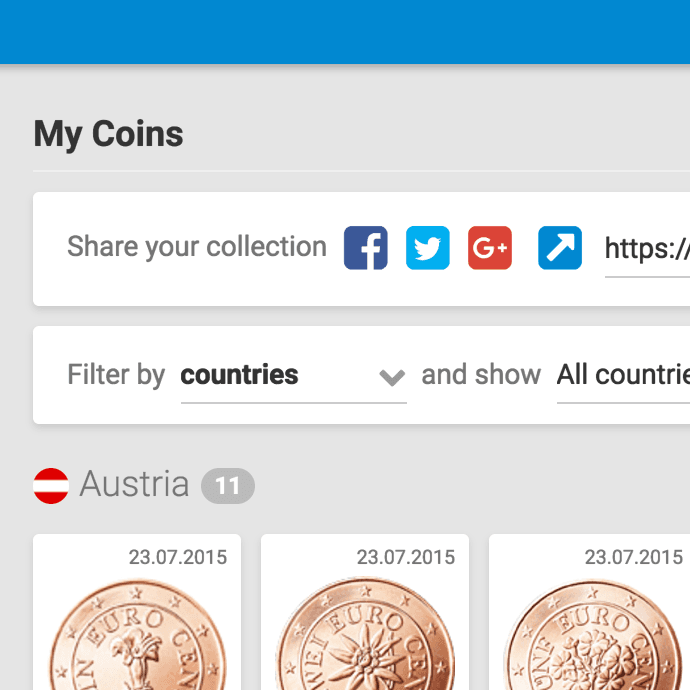Coin Collector Sharing Image